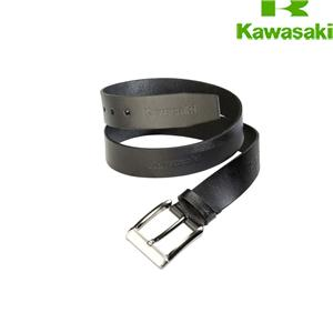 BELT EMBOSSED KAWASAKI (Black leather)