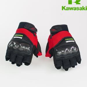 MESH PROTECTION  HALF FINGER GLOVE RED
